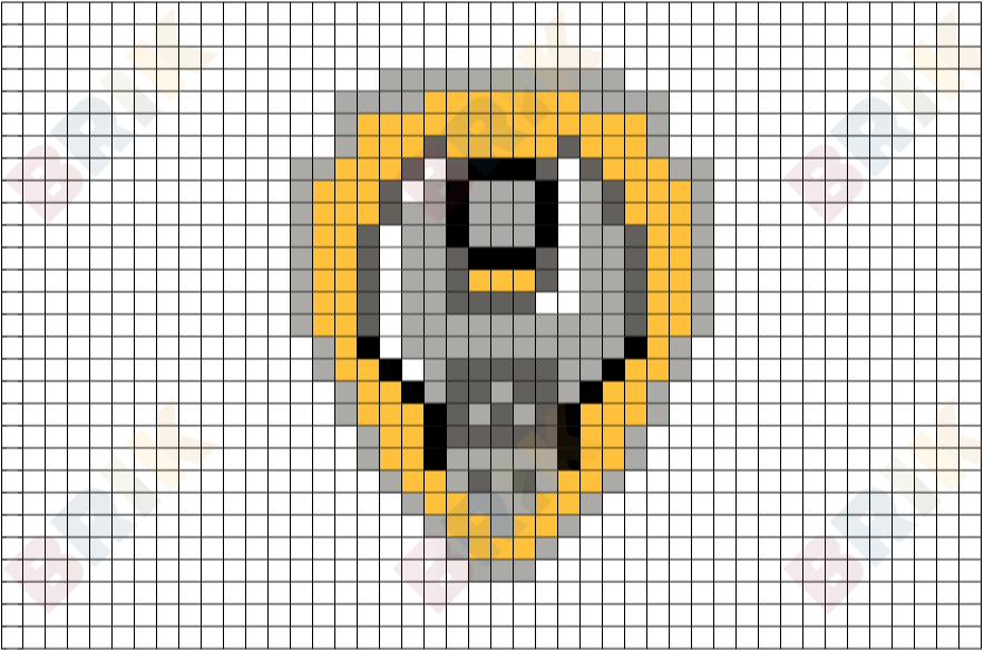 Rubble S Badge Pixel Art Brik