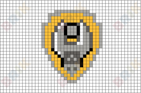 Rubble's Badge Pixel Art
