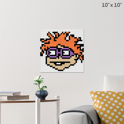 Rugrats Chuckie Finster Brick Poster
