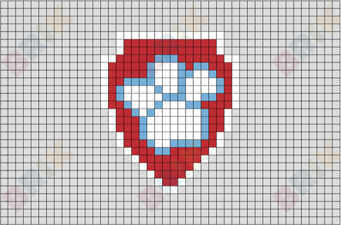 Ryder's Badge Pixel Art