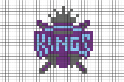 Sacramento Kings Pixel Art
