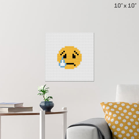 Sad Emoji Brick Poster