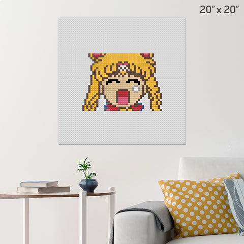 Sailor Moon Brick Poster