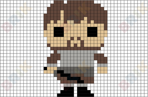 Samwell Tarly Pixel Art