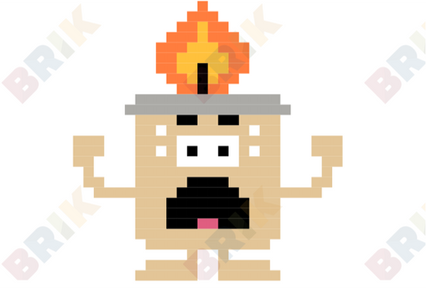Scaredy Candle Pixel Art