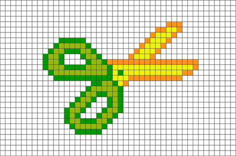 Scissors Pixel Art