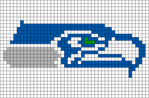 Pixel Seattle Seahawks Brik