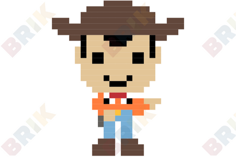 Sheriff Woody Pride Pixel Art