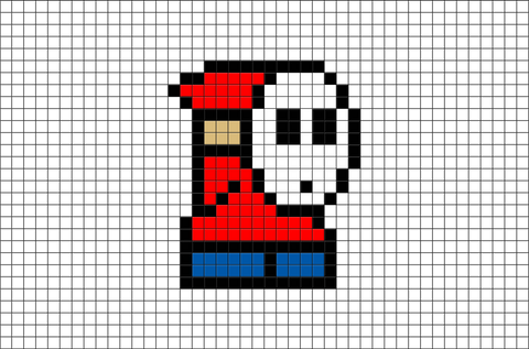 Shy Guy Pixel Art
