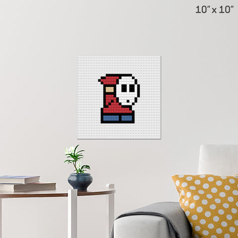 Shy Guy Brick Poster