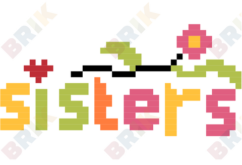 Sisters Day Pixel Art