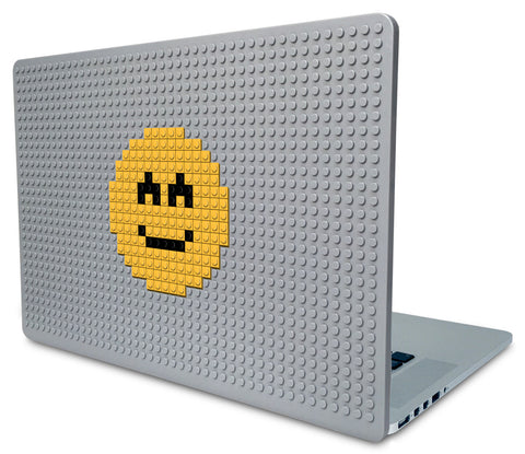 Slightly Smiling Face Emoji Laptop Case