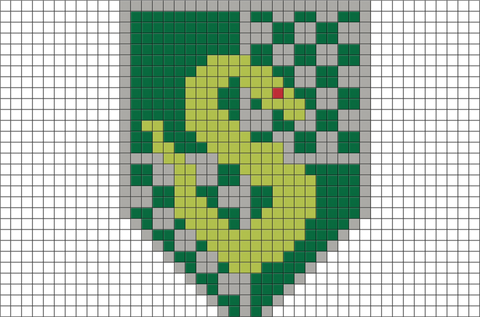 Slytherin Crest Pixel Art