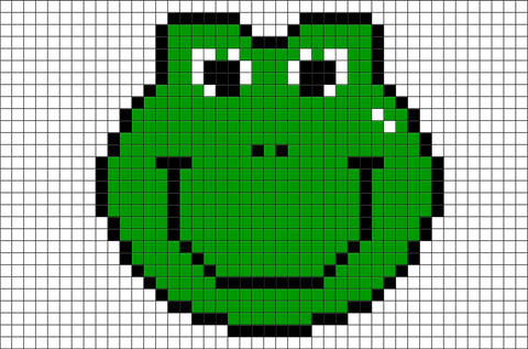 Smiley Frog Pixel Art