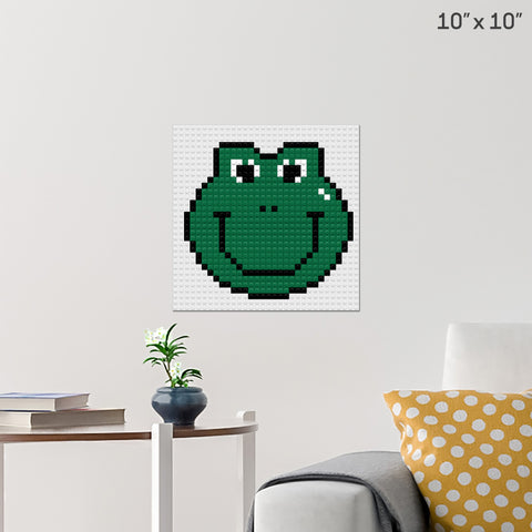 Smiley Frog Brick Poster