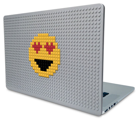 Smiling Face With Heart-Shaped Eyes Emoji Laptop Case
