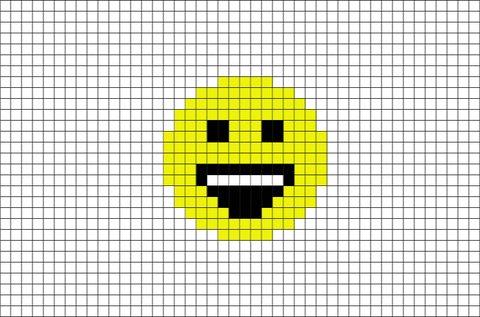 Smiling Face With Open Mouth Emoji Pixel Art