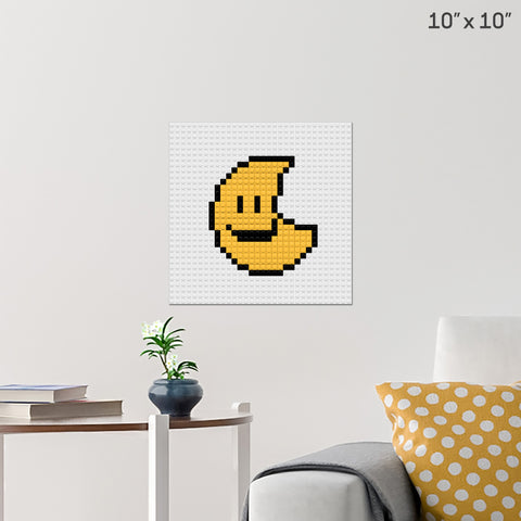 Smiling Moon Brick Poster