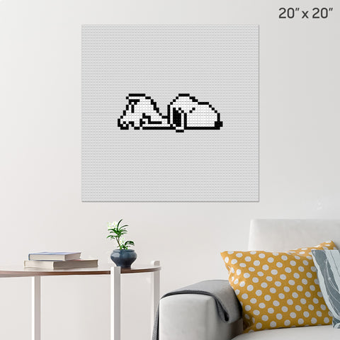 Snoopy 1 Brick Poster