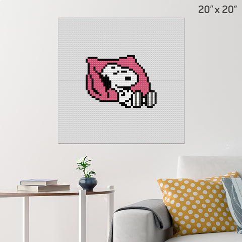 Snoopy Brick Poster