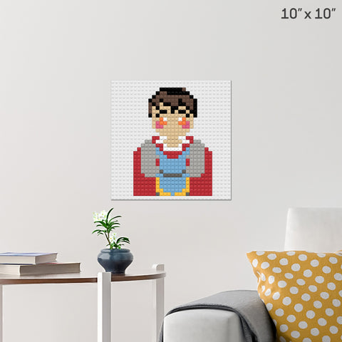 Snow White Prince Brick Poster
