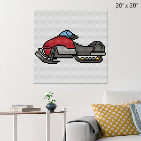 Snowmobile Brick Poster
