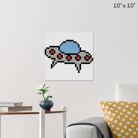 Spaceship Brick Poster