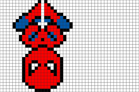 Spider Man Pixel Art