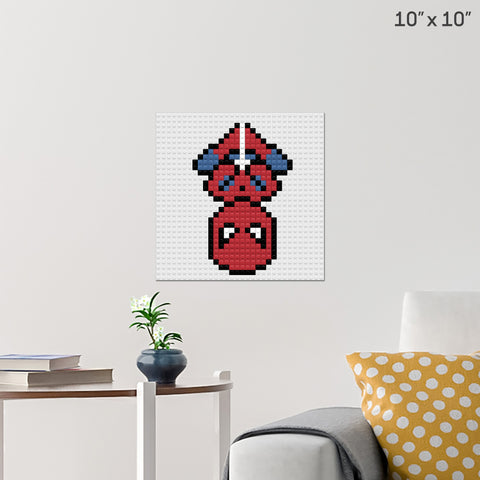 Spider Man Brick Poster
