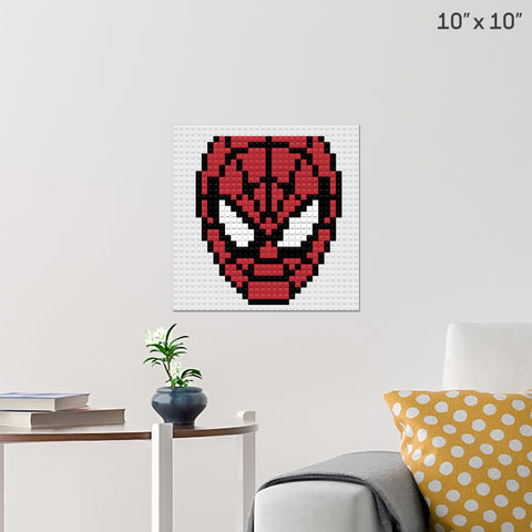 Spiderman Face Brick Poster