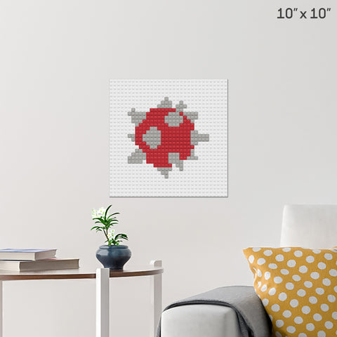 Spiny Egg Brick Poster