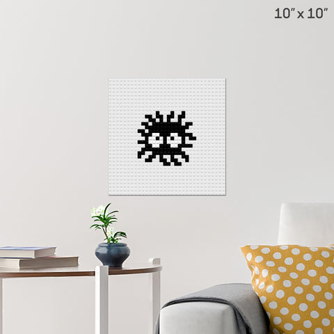 Spirited Away Soot Sprites Brick Poster