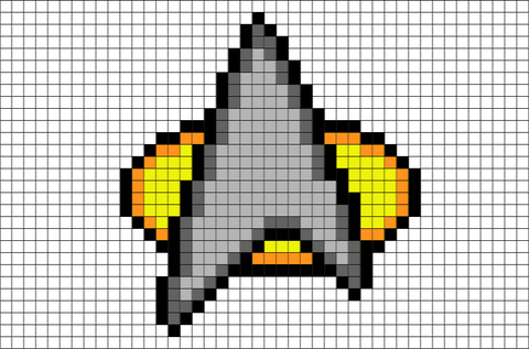 Star Trek Communicator Pixel Art