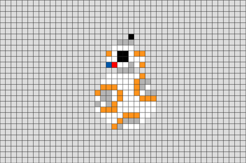 Star Wars BB-8 Pixel Art