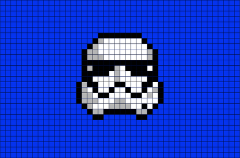Star Wars Storm Trooper Pixel Art