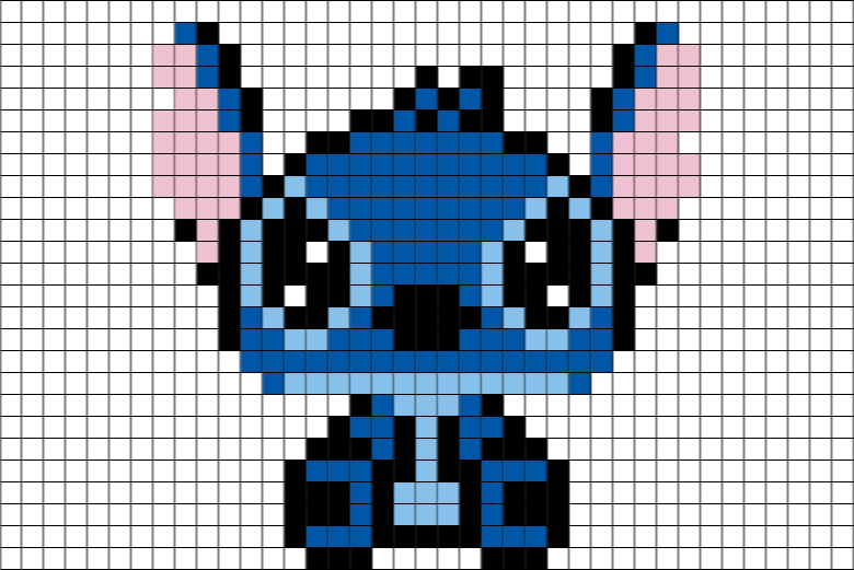 Stitch Disney Pixel Art – BRIK