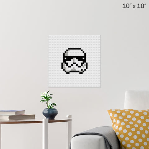 Storm Trooper Brick Poster