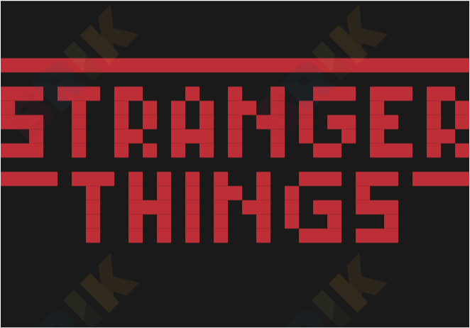 Pixel Stranger Things Brik