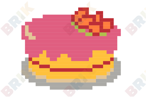 Strawberry Cake Pixel Art