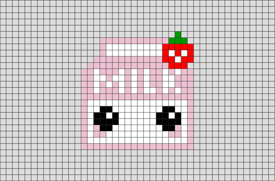 Strawberry Milk Pixel Art – BRIK