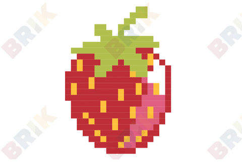 Strawberry Pixel Art