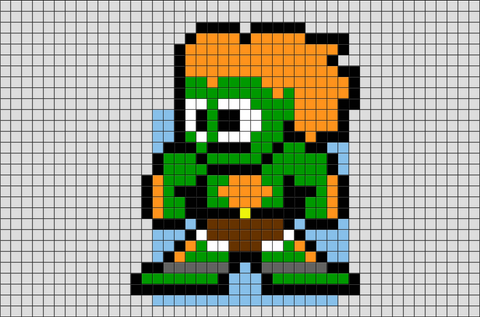 Street Fighter Blanka Pixel Art