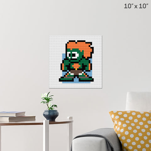 Street Fighter Blanka Brick Poster