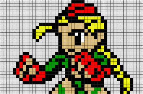 Street Fighter Cammy Pixel Art