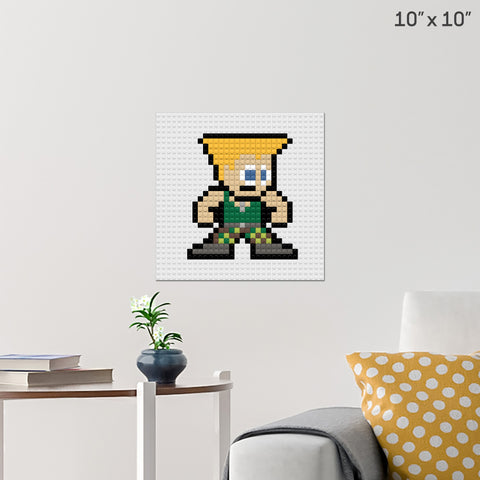 Street Fighter Guile Brick Poster