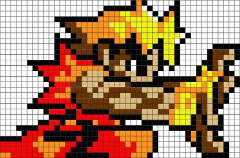 Street Fighter Ken Masters Pixel Art