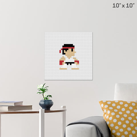 Street Fighter Brick Poster