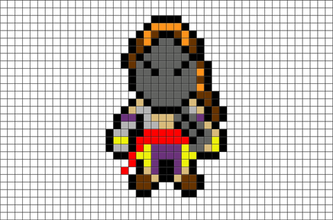 Street Fighter Vega Pixel Art