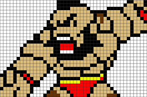 Street Fighter Zangief Pixel Art