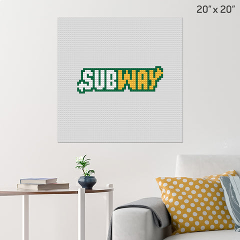 Subway Brick Poster